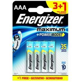 Батарейки Energizer MAX типа E92/AAA - 4 шт. (3+1 в подарок)