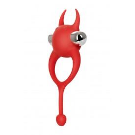 Красное виброкольцо с хвостиком JOS NICK