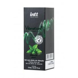 Жидкий массажный гель VIBRATION Mint с ароматом мяты и эффектом вибрации - 17 мл.