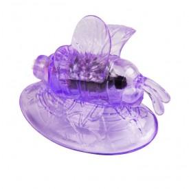 Стимулятор клитора с вакуумным массажем и вибрирующей бабочкой